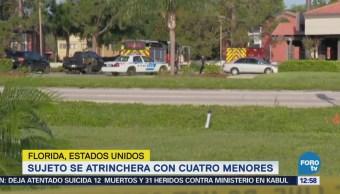 Hombre toma a cuatro niños como rehenes en Orlando, Florida