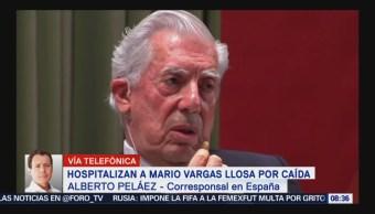 Hospitalizan a Vargas Llosa por caída; se encuentra estable