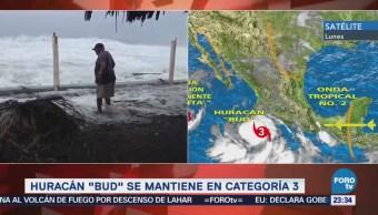 Huracán 'Bud' se ubica cerca de Jalisco