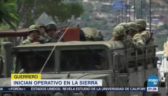 Inician Operativos Sierra Guerrero Seguridad Crimen