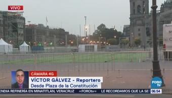 Instalan pantallas en Zócalo capitalino para ver el Mundial 2018