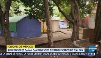 Inundaciones Dañan Campamentos Damnificados Tlalpan CDMX