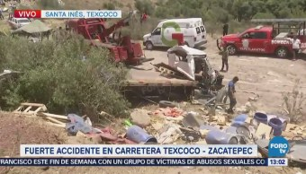 Investigan Accidente Carretera Texcoco-Zacatepec