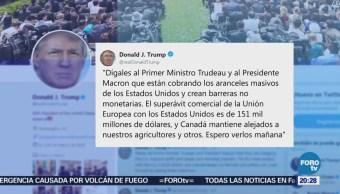 Trump Responde Macron Trudeau Cobro Aranceles