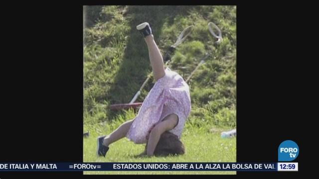 Kate Middleton observa torneo de polo con sus hijos