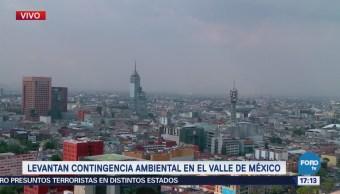 Levantan contingencia ambiental en el Valle de México