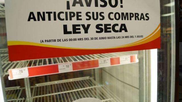 Habrá ley seca en CDMX durante jornada electoral