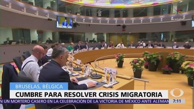 Líderes de la Unión Europea debaten crisis