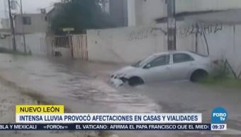 Lluvia en Nuevo León inunda vialidades