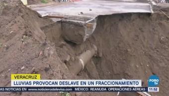 Lluvias Provocan Deslave Socavón Veracruz