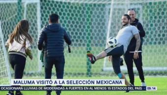 #LoEspectaculardeME: Maluma vista a la Selección Mexicana
