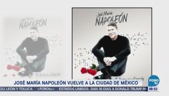 #LoEspectaculardeME: Napoleón estrenará disco en la Ciudad de México