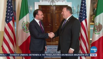 Luis Videgaray se reúne con Michael Pompeo en Washington