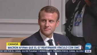 Macron Afirma G7 Reafirmará Vínculo OMC