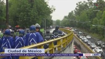 Manifestantes liberan vialidad en Paseo de la Reforma