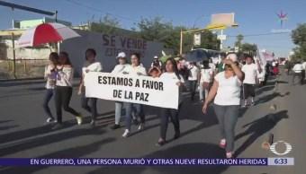 Marchan por la paz en Ciudad Juárez, Chihuahua