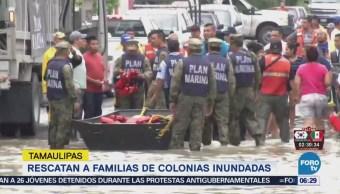 Marina Rescata Familias Afectadas Lluvias Tamaulipas