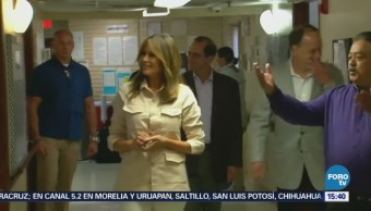 Melania Trump visita centros de detención
