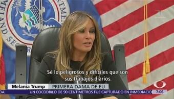 Melania Trump visita oficina de Aduanas en Arizona