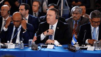 Pompeo pide a la OEA suspender a Venezuela