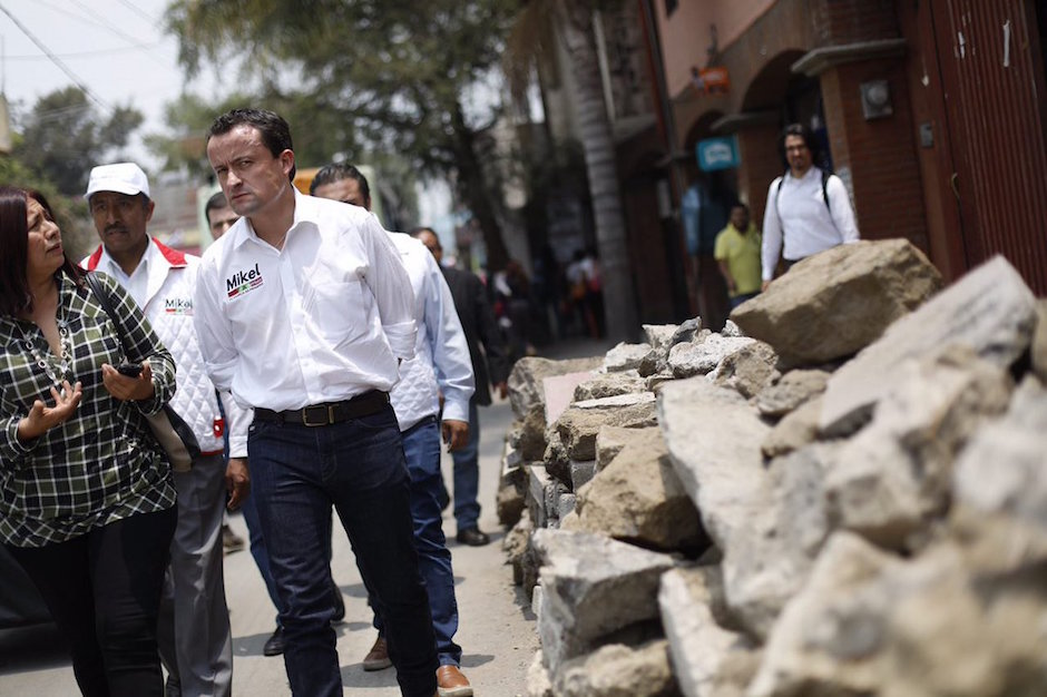 Mikel Arriola se compromete a iniciar reconstrucción Xochimilco