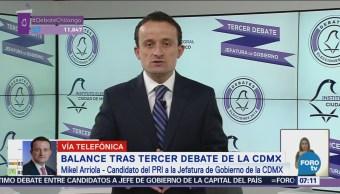 Mikel Arriola dice que propuso soluciones a problemas en debate