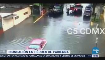 Reportan Inundación Héroes Padierna Cdmx