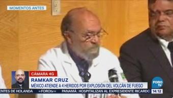 México Atiende Cuatro Heridos Erupción Guatemala