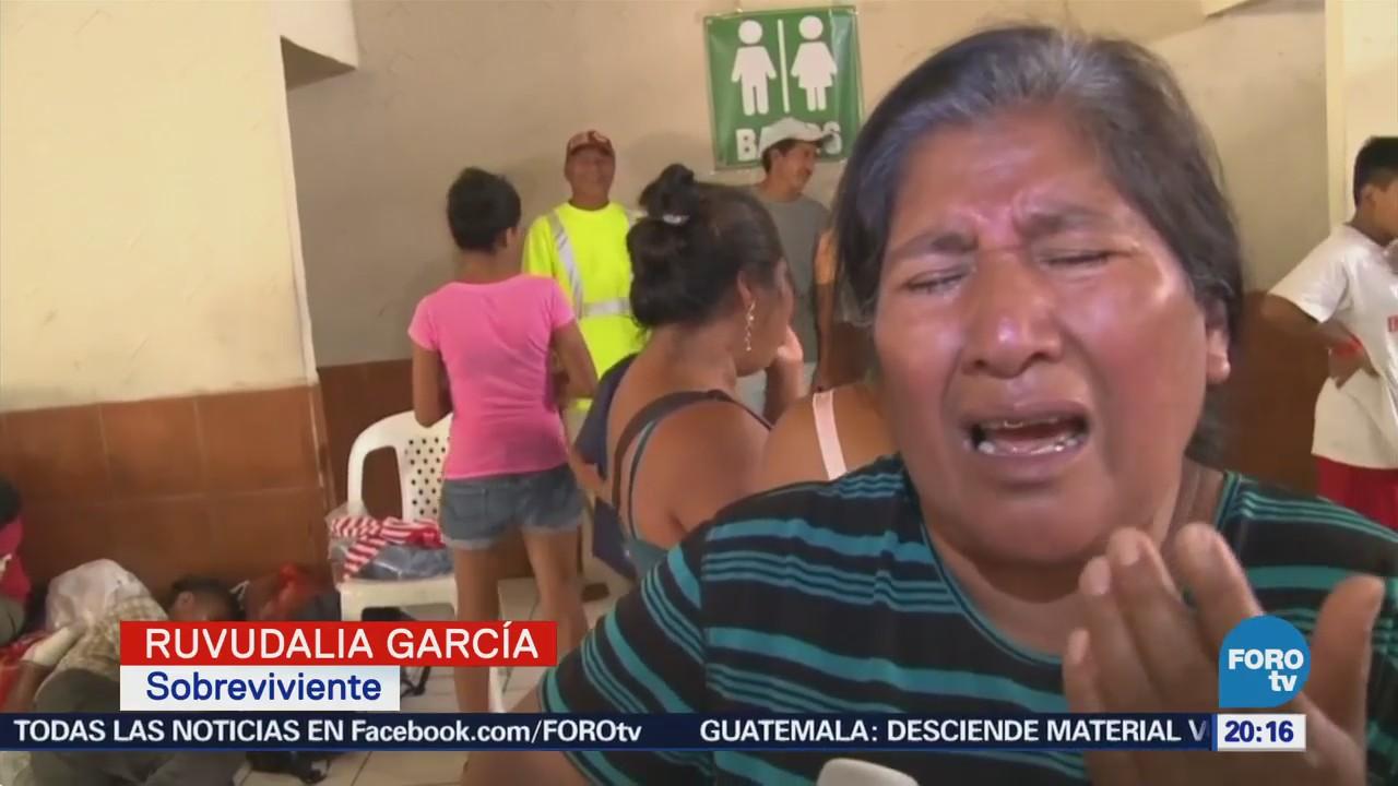 Sobrevivientes Buscan Sus Familiares Guatemala