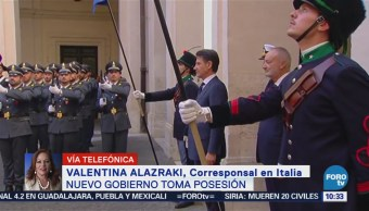 Nuevo Gobierno Italia Toma Posesión