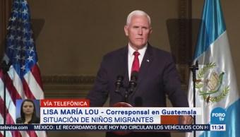 Pence Habló Sobre Crisis Migratoria Eu Durante Visita Guatemala