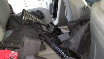 localizan camioneta y armas abandonadas tamaulipas