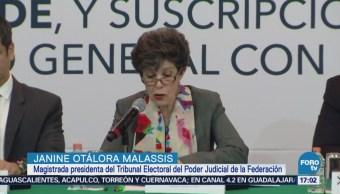 Presidenta del TEPJF pide reforzar accione