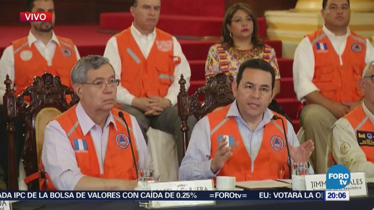 Presidente Guatemala Detalla Operativos Tras Erupción Volcán De Fuego
