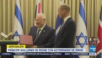 Príncipe Guillermo se reúne con autoridades de Israel