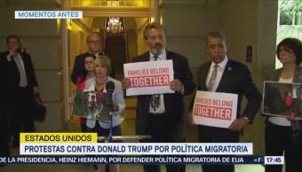 Protestan Capitolio Política Migratoria Trump