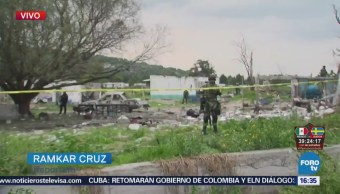 Ejército Bomberos Trabajan Zona Estallido Tultepec