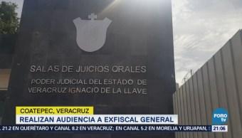 Realizan audiencia a exfiscal de Veracruz