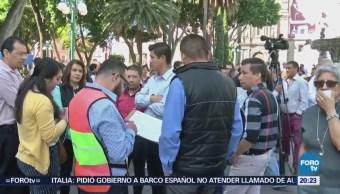 Realizan Simulacro Sismo Centro Histórico Puebla
