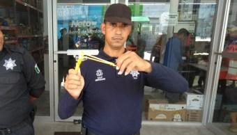 Equipan con resorteras a policías de Alvarado, Veracruz