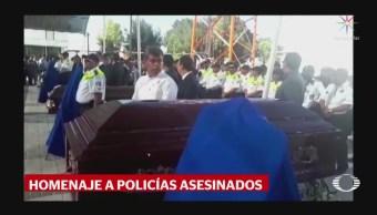 Rinden homenaje seis policías asesinados