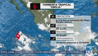 Se forma la tormenta tropical 'Emilia' en el Pacífico
