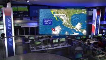 Forma Tormenta Tropical Emilia Pacífico Mexicano Clima