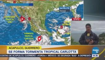 Intensifican Efectos Tormenta Tropical Carlotta Guerrero