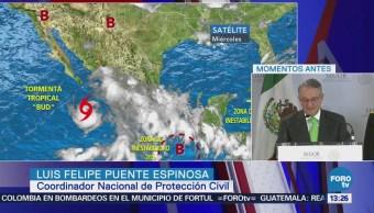 Segob se coordina con estados para enfrentar la tormenta 'Bud'