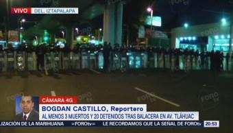 Sigue cerrada avenida Tláhuac tras balacera
