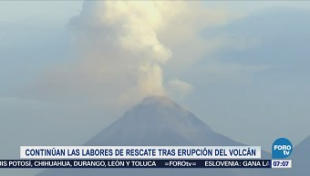 Sigue la actividad del Volcán de Fuego de Guatemala