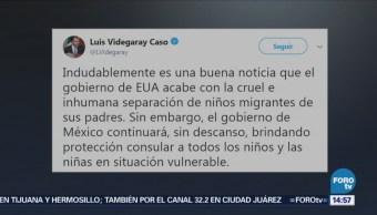 SRE continuará con protección consular a niños migrantes