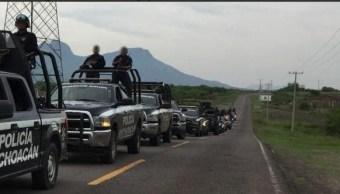 Detienen a 28 policías municipales de Ocampo, Michoacán
