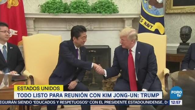 Todo listo para reunión con Kim Jong-Un, dice Trump
